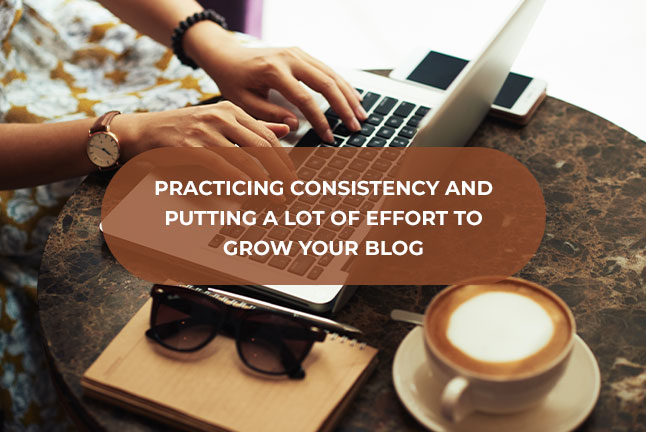 Practicing consistency and putting a lot of effort to grow your blog